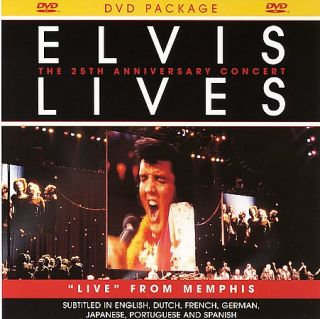 Elvis Lives The 25th Anniversary Concert DVD, 2007, Jewel Case