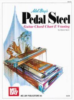 Mel Bays Pedal Steel Guitar Chord Chart E 9 Tuning by Dewitt Scott