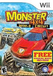 Monster 4X4 World Circuit Game Steering Wheel Wii, 2006