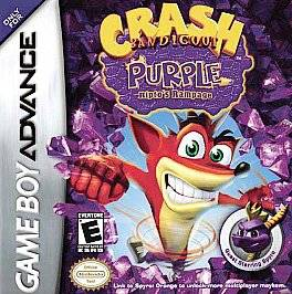 Crash Bandicoot Purple Riptos Rampage Nintendo Game Boy Advance, 2004