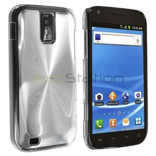 Silver Brushed Metal Aluminum Hard Case Cover For Samsung Galaxy S2
