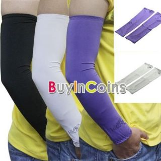 Pair Arm Sleeve Cover UV Bike Bicycle Golf Basketball