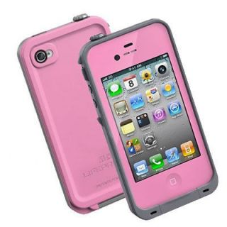New Lifeproof Waterproof Cases Pink and White Apple iPhone 4 4S NIB