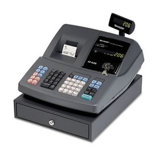 Sharp Cash Register   2000 PLUs   25 Clerks   99 Departments   Thermal