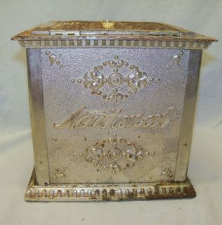 Antique Nickel Plate w Glass National Cash Register Receipt Ticket Box
