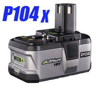 Ryobi 18V P104 18Volt High Capacity Lithium Ion Battery