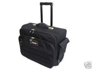 17 Laptop Carrier Rolling Carry Case Computer Notebook Bag Briefcase