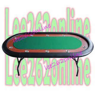 10 Players 96 Texas Holdem Folding Legs Poker Table Green