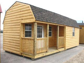 LOG CABIN Portable Storage Building Sheds Barns Kansas