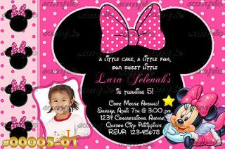 00005 Minnie Mouse Personalized Printable Custom Birthday Invitation