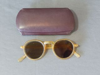 Vintage WILLSON Safety Goggles Glasses Sunglasses w Case Motorcycle