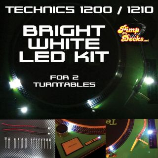 TECHNICS 1200 1210 BRIGHT WHITE LED KITS X 2 ( FOR 2 TURNTABLES )