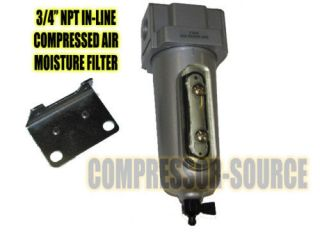 COMPRESSED AIR LINE MOISTURE & WATER FILTER TRAP