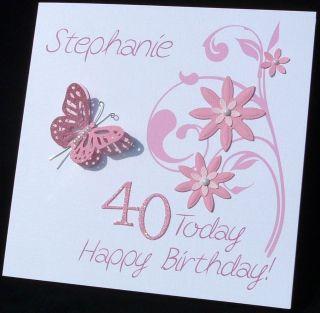 Personalised Handmade Birthday Card 30th 40th 50th 60th 70th 80th ANY