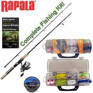RAPALA® SPINNING ROD & REEL COMBO KIT~FISHING POLE~REELS~HUNTING