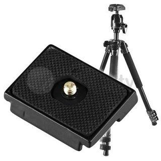 ... Black Camera Tripod Quick Release Plate 1.5 x 2 inches Mount 6mm Screw ...