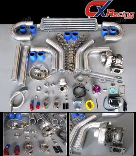 T3/T4 T3 T4 T04E Universal Turbo Charger Kit+ WASTEGATE + INTERCOOLER+