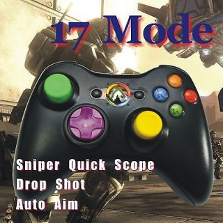 Xbox 360 Rapid Fire Modded Customized Black Controller 17 Mode New