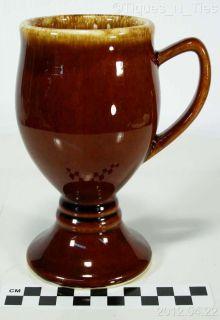 Vintage Hull China Pottery Brown Drip French Pedestal Mug