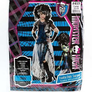 Monster High Frankie Stein Supreme COSTUME Girls Medium 8 10 Child