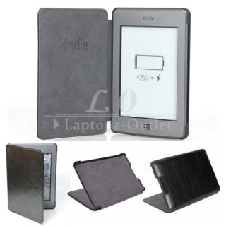New Brand PU Leather Case Cover for Official  Kindle Touch Black