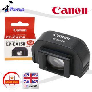 NEW Genuine Canon EP EX15 II Eyepiece Extender / EOS 60D 5D 40D 550D