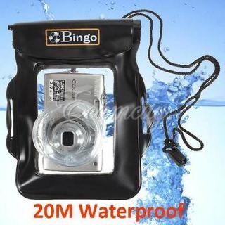 Underwater Camera Case Housing Dry Bag For Canon Nikon Black