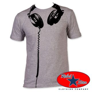 Headphones Mens T Shirt Retro 80s Cool Punk Indie Rock Alternative