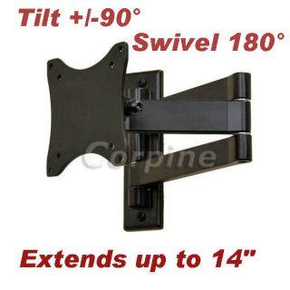 Swivel Tilt Flat Screen LCD LED TV Monitor Wall Mount 15 17 19 20 22