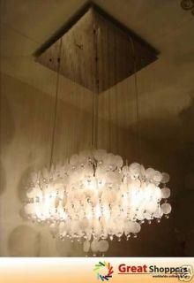 Modern Shell w/ Crystal Ceiling Light Pendant Lamp Lighting Fixture