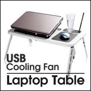 NEW PC LAPTOP NOTEBOOK TABLE USB 2 COOLING FANS MOUSE PAD