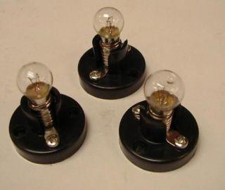 Set of 3 House Lights for Lighting Lionel / AF Houses