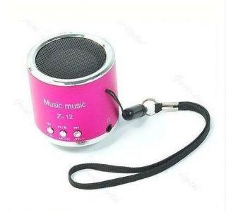 Mini Portable USB FM Radio Speaker Music Player TF Card For PC iPod