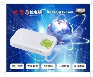 Smart TV BOX Android 4.0 1080P Network Media Player Wi Fi / HDMI / USB