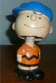 1950 Charlie Brown 4 Paper Mache Bobblehead Nodder Figure