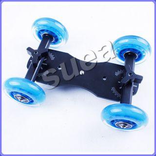 DSLR Truck Skater Wheel Table Top Compact Dolly Slider Kit For Video
