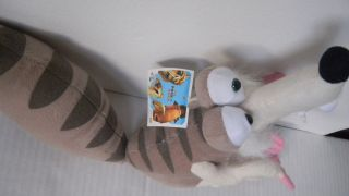 Plush Toy 2006 20th Century Fox Ice Age 2 Meltdown SCRAT Squirrel 12