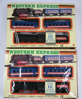 VINTAGE WESTERN EXPRESS RAILROAD TRAIN SETS KAMCO TOYS NICE/CLEAN