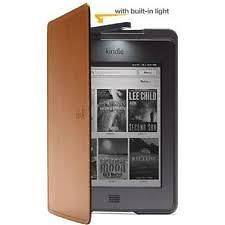 Genuine  Kindle Lighted Leather Case / Cover   Saddle Tan   fits