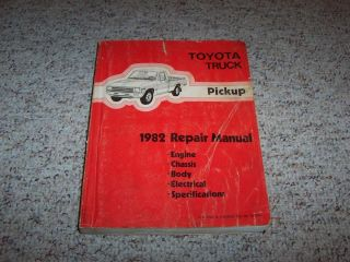 1982 Toyota Pickup Truck Factory Shop Service Repair Manual NO