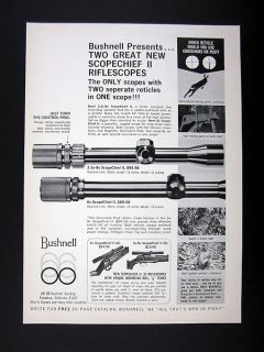 Bushnell ScopeChief II Gun Rifle Scopes scope 1966 print Ad
