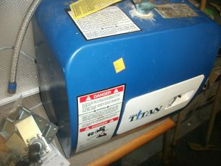tiny titan COMPACT PORTABLE HOT WATER HEATER RV CAMPER CAMPING 110