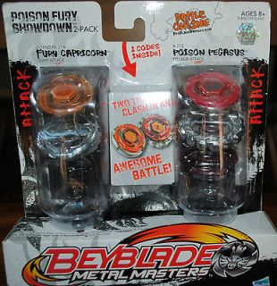 NEW BEYBLADE METAL MASTERS POISON FURY SHOWDOWN 2 PACK   NIB