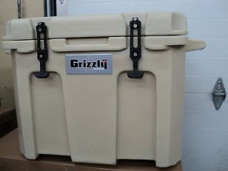 Grizzly 60 Qt Cooler Tan New in Box W/FREE YETI MASTER LOCK & FREE