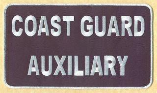 Coast Guard Auxiliary large monogram 95x55 patch