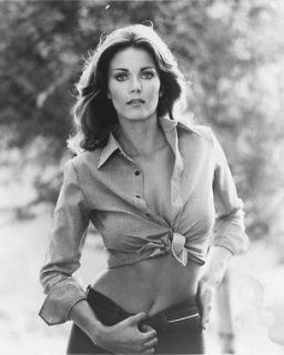 Lynda Carter very sexy cleavage in shirt tied at waist Wonder Woman