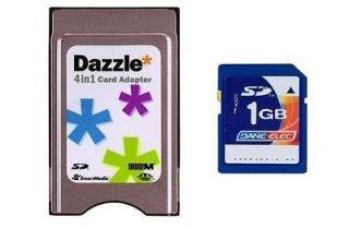 USA Seller 1GB Dane Elec SD PCMCIA PC Card Adapter for Mercedes Benz