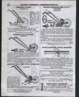 1929 ad Hudson Planet Jr Garden Plows Cultivators Blue Grass Drill