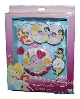 Disney Princess ROYAL MELODIES PLAY CD PLAYER Toy 20 Songs NEW