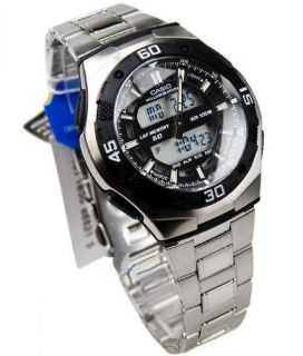Casio Men World Time Alarm Analog Digital Sport Watch NIB AQ164WD AQ